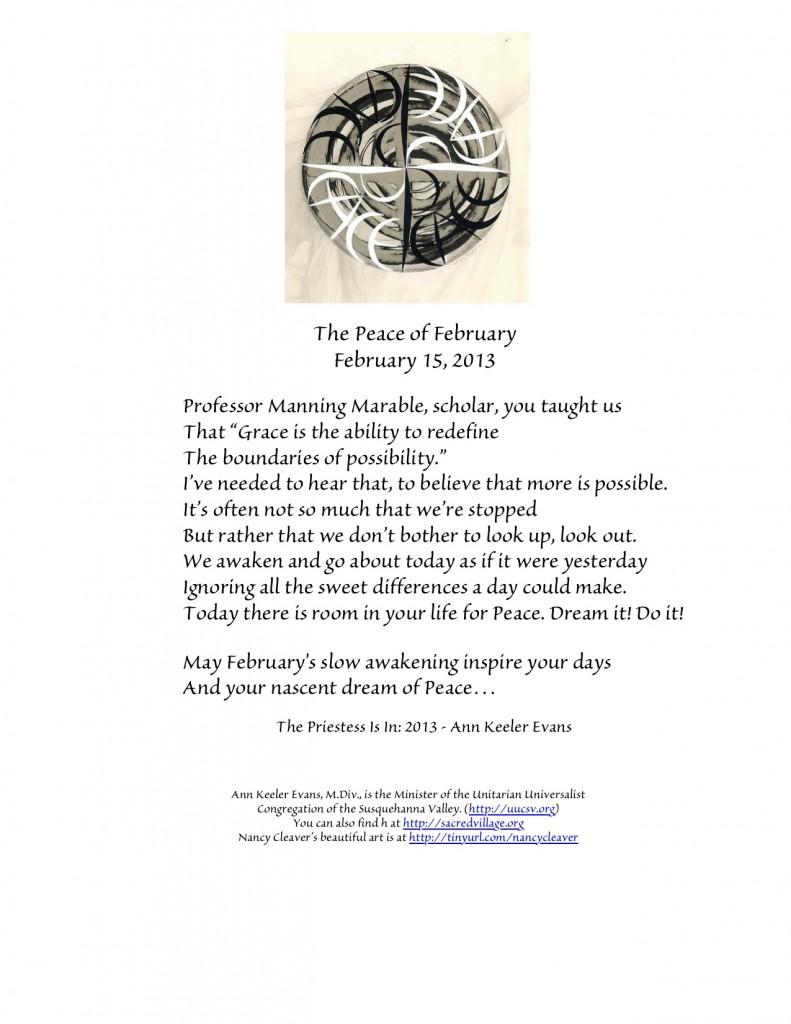 PeaceFebruary15