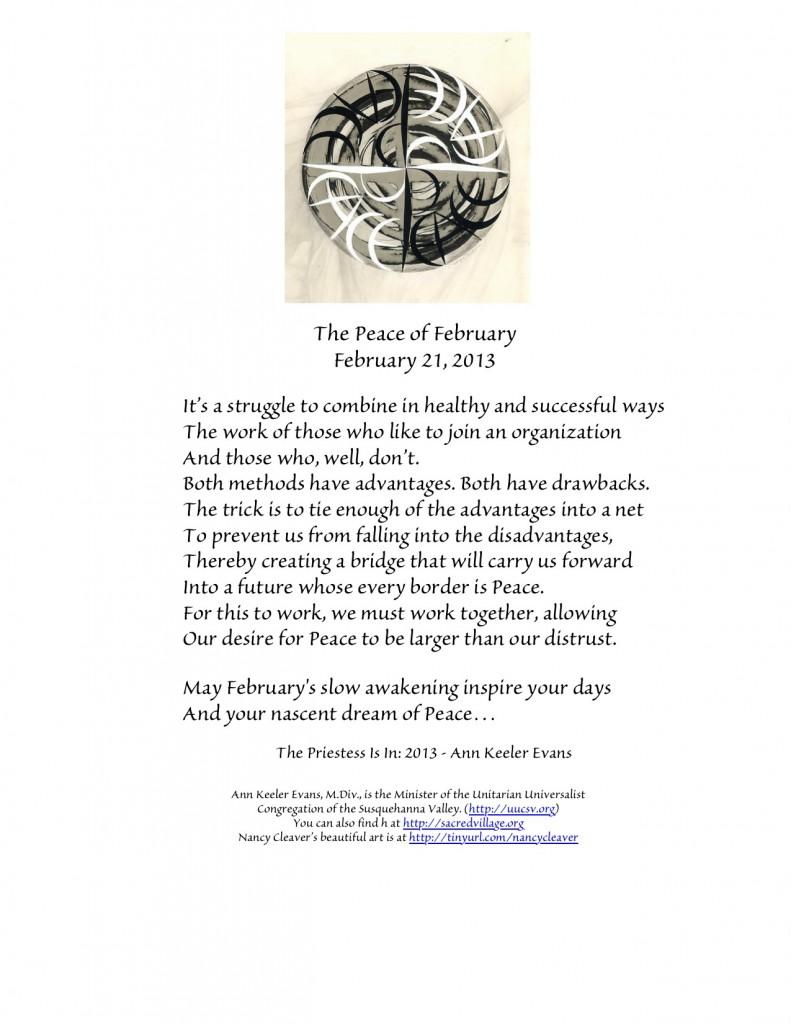 PeaceFebruary21