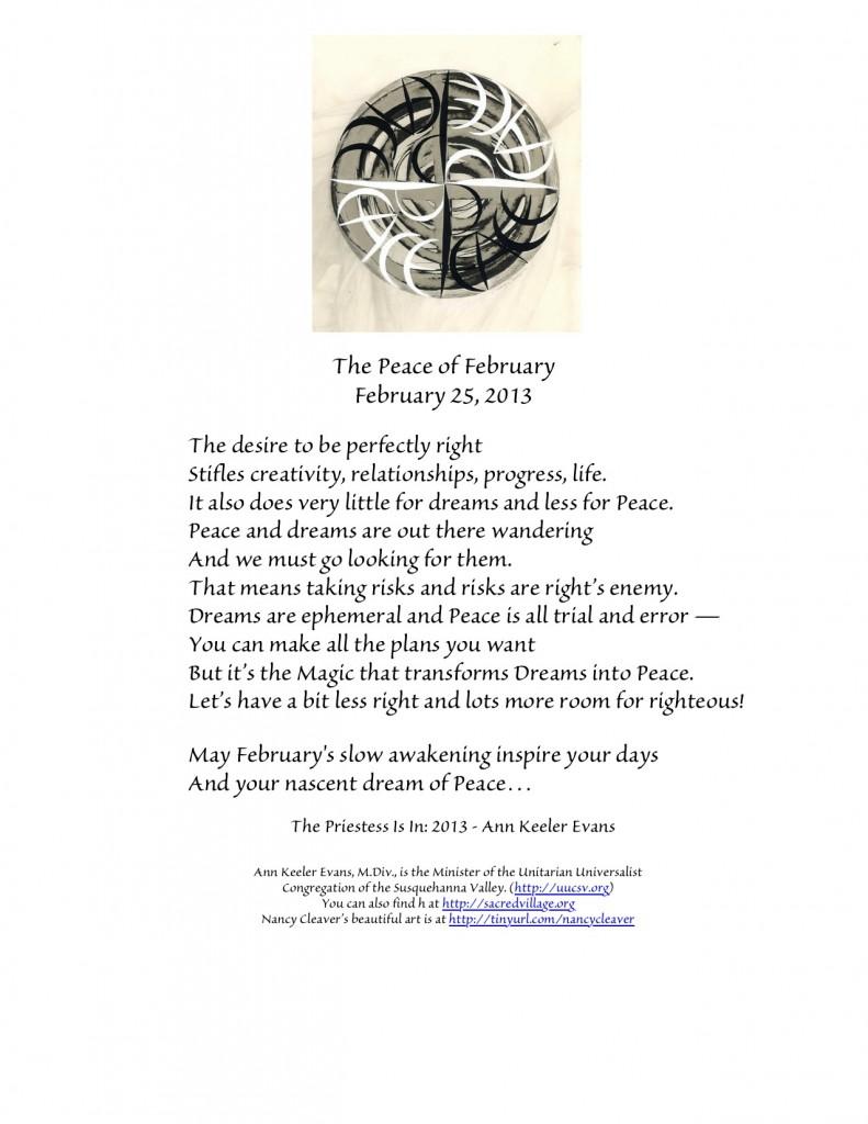 PeaceFebruary25