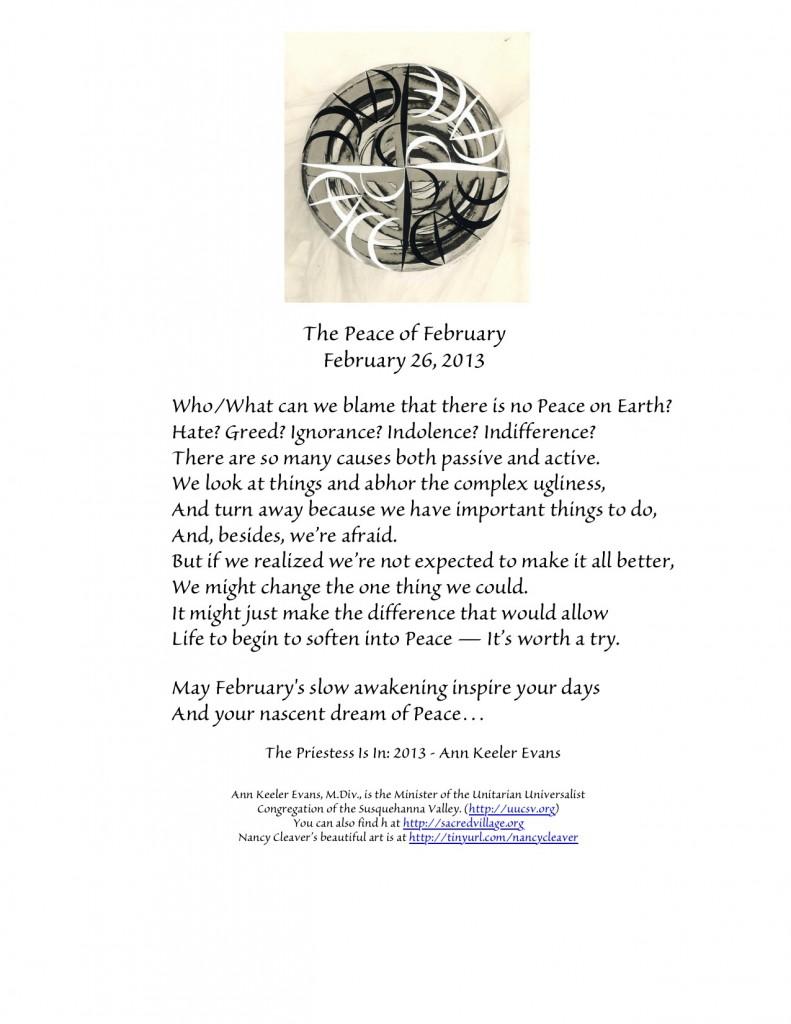 PeaceFebruary26