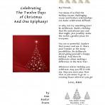 Celebrating the Twelve Days of Christmas and One Epiphany